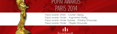 fisadorelli riceve quattro nomination ai popai awards  2014  fisadorelli gets four nominations at the 2014 POPAI Awards fisadorelli obtient quatre nominations aux  POPAI Awards 2014