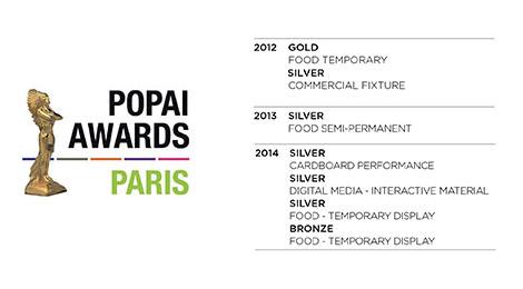 fisadorelli wins four 2014 POPAI awards